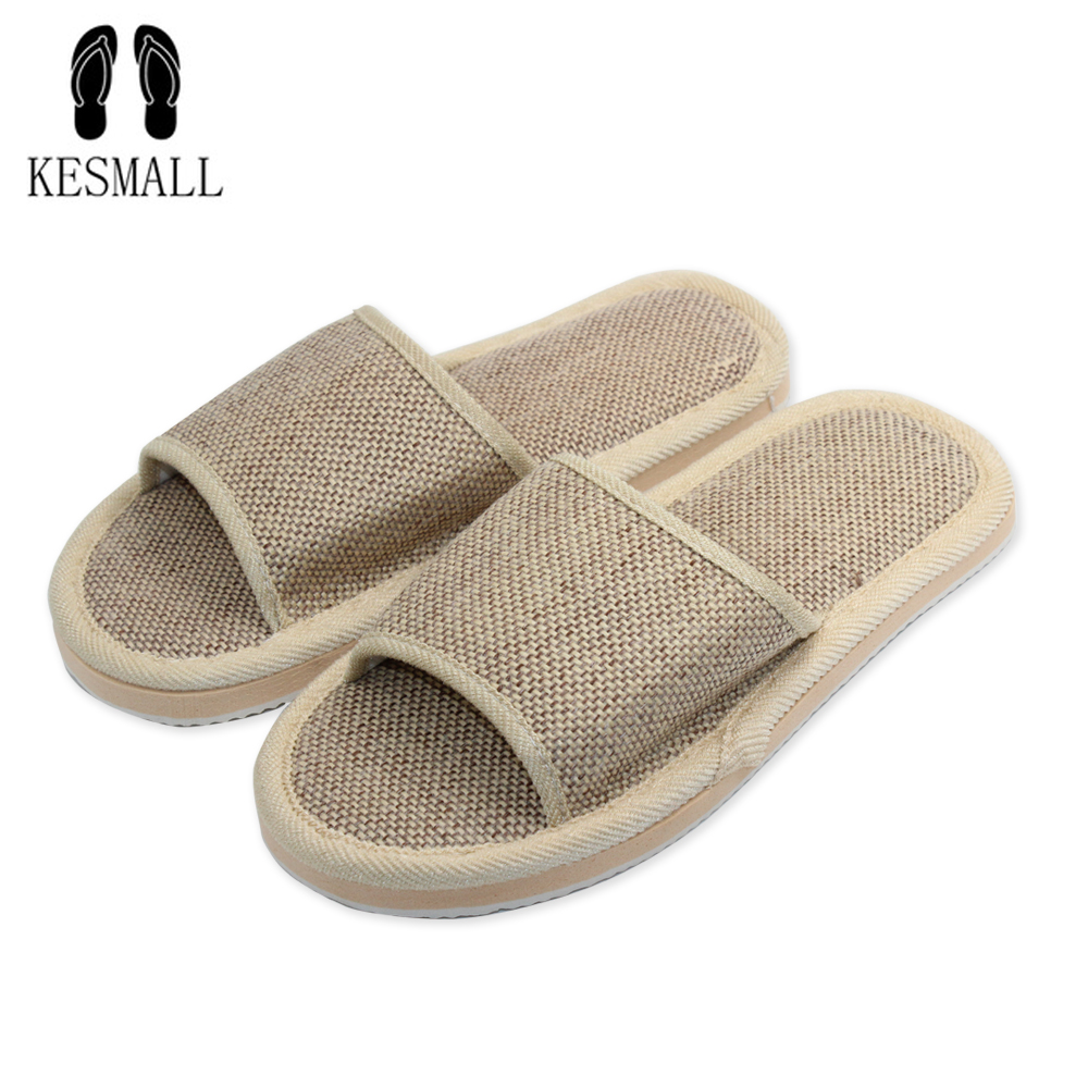 2017 Anti-slip Summer Indoor Slippers High Quality Flax Linen Home Shoes Men Women Girls Breathable Casual Floor Slippers W301 coolsa women s summer striped linen slippers women hemp slides women s flax slippers breathable non slip fashion indoor slippers