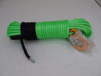Green 10mm*30m Synthetic Winch Rope,Spectra Winch Cable,Kevlar Winch Cable,Replacement Synthetic Rope for Winch