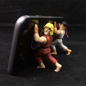 NEW hot 6-10cm 4pcs/set Street Fighter SF Ryu Chun-Li Mobile phone stents creative Action figure toys collection