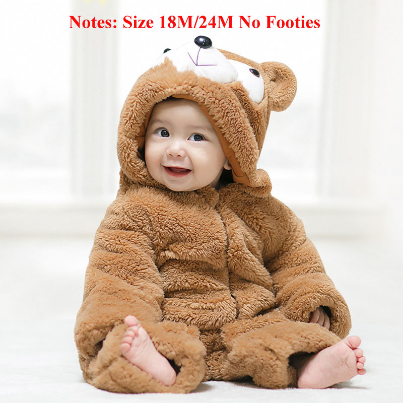 HAPPYMA Newborn Infant Baby Boy Dinosaur Clothes Zipper Hoodie Jumpsuit Cotton Romper Outfit