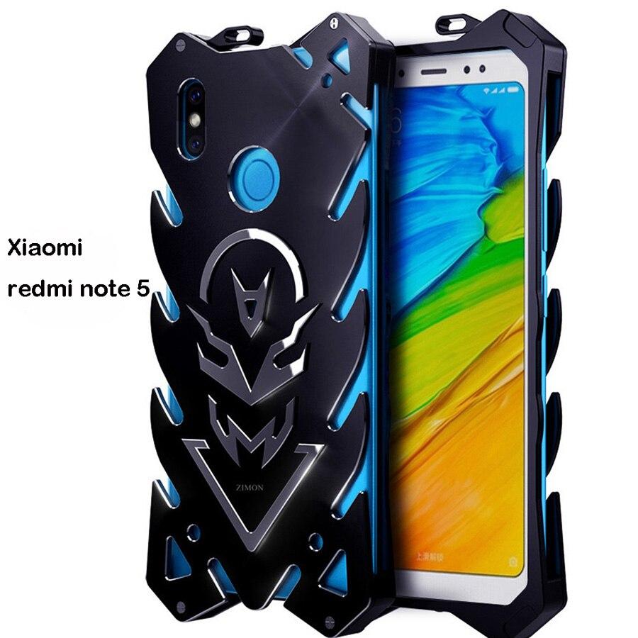 Xiomi Redmi Note5 Zimon De Luxe Nouveau Thor Heavy Duty Armure En Métal en aluminium Cas de Téléphone Pour Xiaomi Redmi Note 5 Cas 5.99