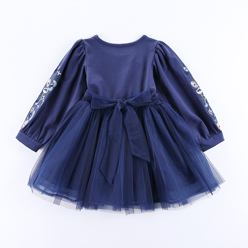 Big Girls Dress Long Sleeve Party Girls Tulle Tutu Dresses Lantern Sleeve Princess Mesh Ball Gown Dresses RT086 girls dresses long sleeve tulle dress for flower girls princess party dresses 3 7 9 11 years christmas ball gowns new year gifts