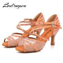 Ladingwu/Танцевальная обувь; женские кроссовки для сальсы; Танцевальная