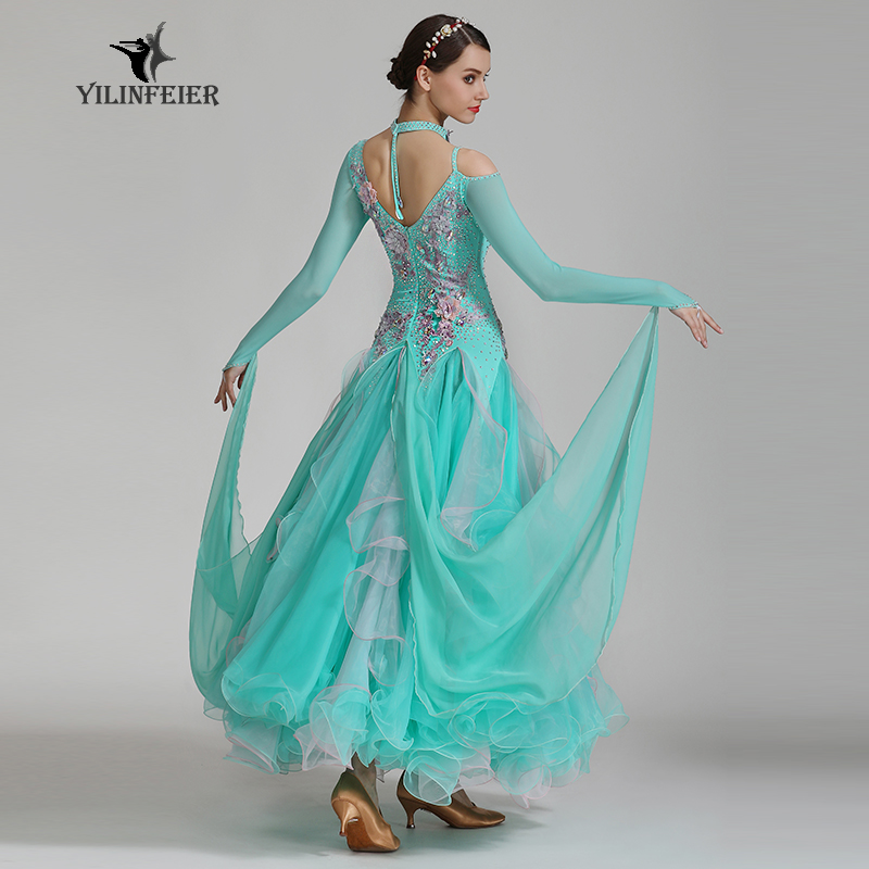 High-grade Ballroom Waltz Dance Dress Ballroom Dance Competition Dresses Standard Ballroom Dancing Clothes Tango Dres S7036