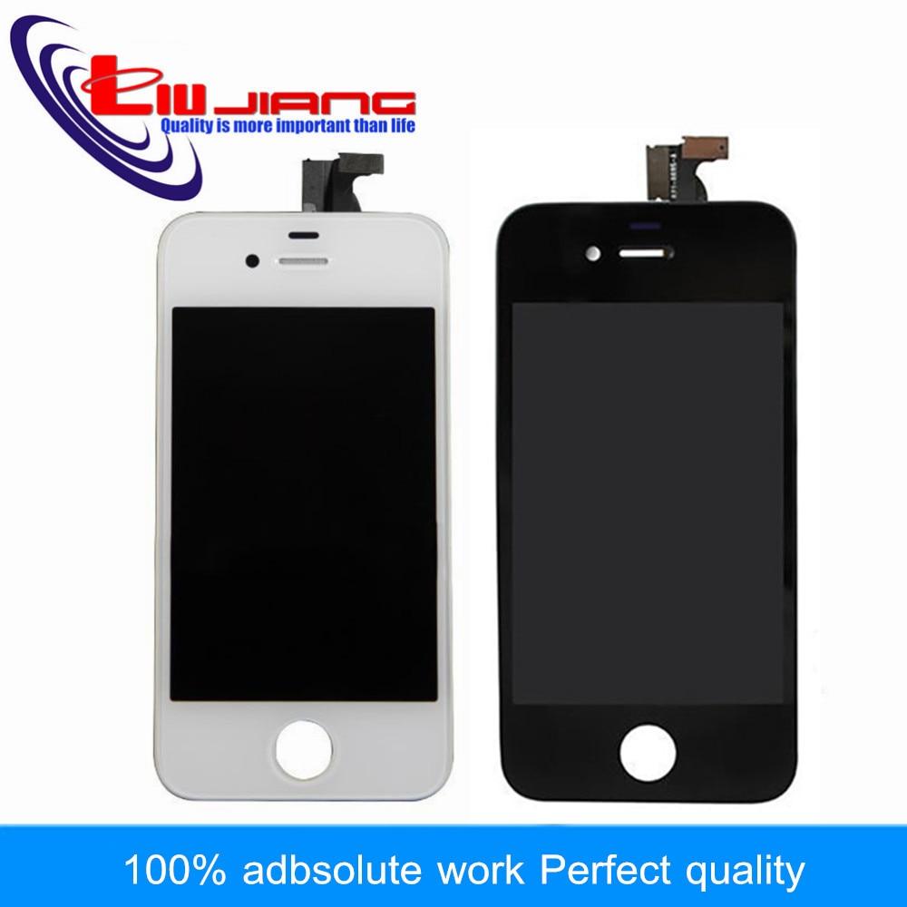 imágenes para Liujiang 4S de calidad Original Para el iphone 4 4g LCD Display de Pantalla Táctil Digitalizador Reemplazo Del Conjunto Del Marco