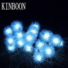 Батарея 2 м 20 светодиодный пушистый снежный шар edelweiss светодиодный Рождественский струнный свет для украшение для дома, сада Свадебные вечерние гирлянды украшения