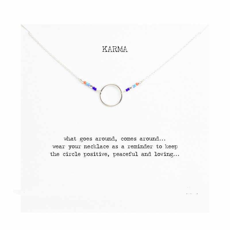 ร้อนขาย Karma หลายสีลูกปัดสร้อยคอทองคำจี้สร้อยคอ Clavicle สร้อยคอสร้อยคอผู้หญิง JeweleryT0312