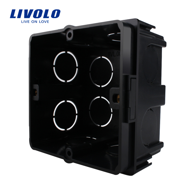 Livolo Free Choose, Black Plastic Materials,  EU Standard Internal Mount Box for 80mm*80mm Standard Wall Light Switch