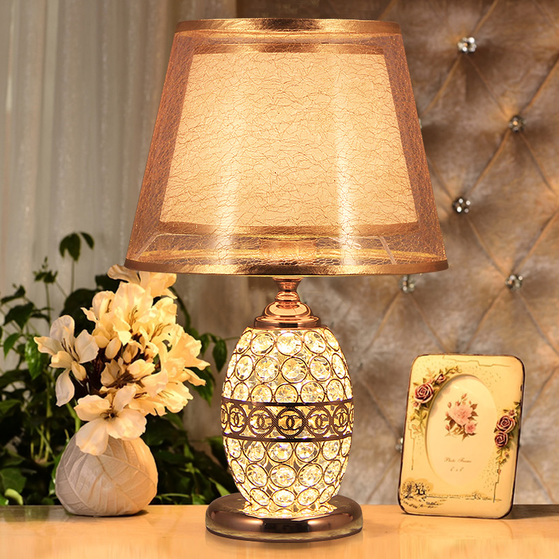 Modern Crystal Table Lamps For Bedroom,Living Room,Study,Office Crystal Glass Desk Lamp Two kinds of Light Golde Silver Optional crystal table lamps for bedroom desk light crystal touch sensor led table lamp shade lamparas de mesa