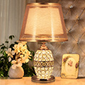 Modern Crystal Table Lamps For Bedroom,Living Room,Study,Office Crystal Glass Desk Lamp Two kinds of Light Golde Silver Optional