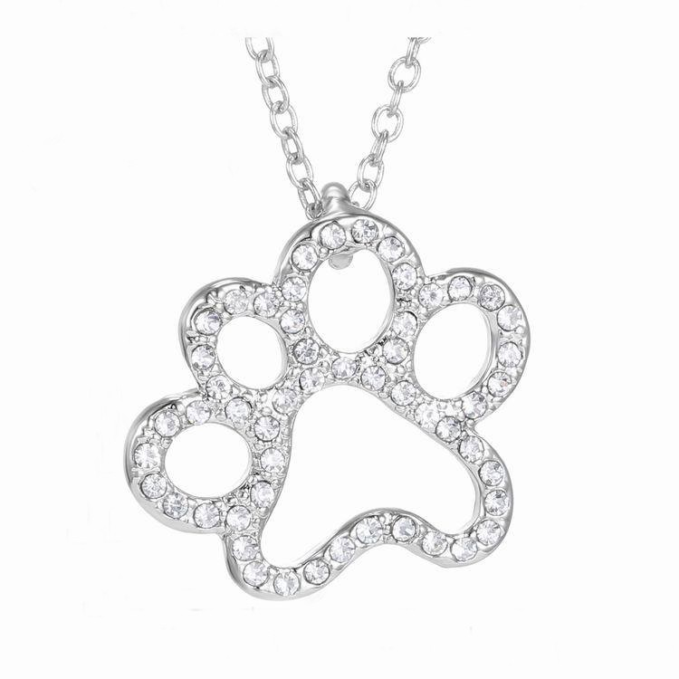 Lovely Cat Paw Ladies Necklace
