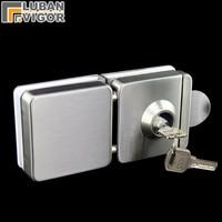 Unilateral open the door, Glass Door Lock,strengthen,stainless steel,no drilling ,fine drawing,Frameless glass door,10 12mm