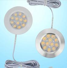 Under Cabinet Light LED 12V 3W Aluminum Cupboard Kitchen Closet Puck Wardrobe Furniture Lamp Counter Showcase