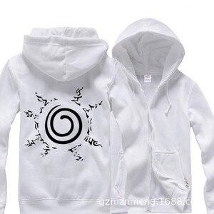 Anime Naruto Rikudo Sennin cachet Zipper hoodies sudadera deportiva algodón añadir felpa hoody invierno cosplay disfraz nuevo