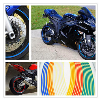 Strips Motorcycle Wheel Sticker Reflective Decals Rim Tape Bike Car Styling For Buell Lightning XB12R Ducati 996 996B SPS image