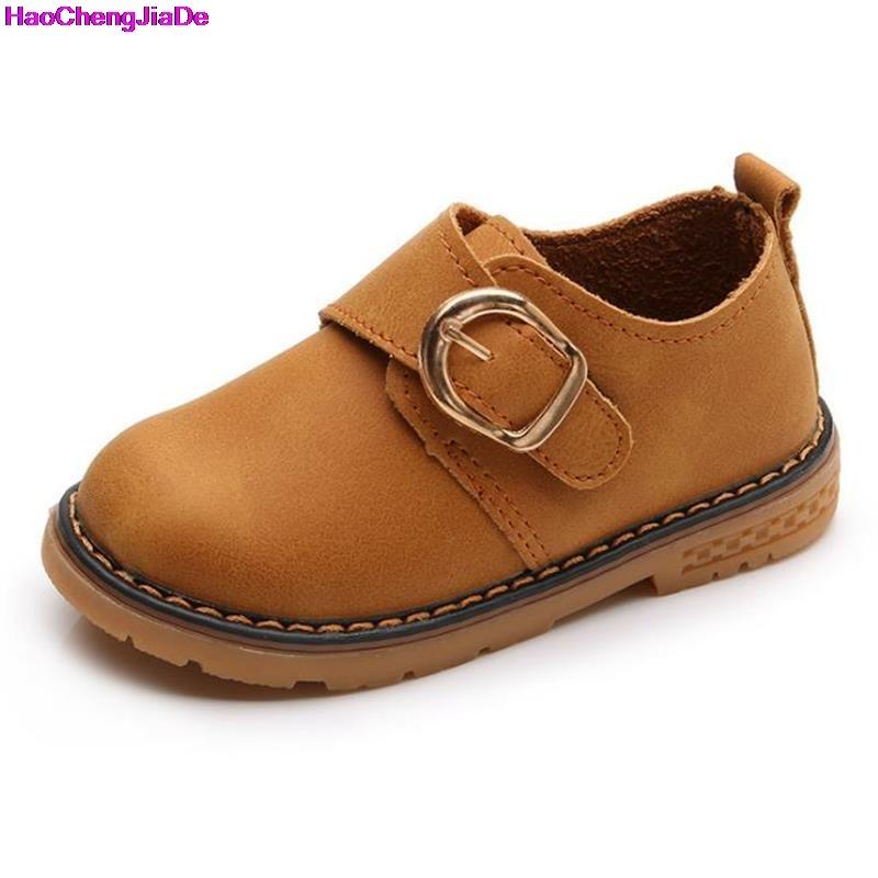 HaoChengJiaDe Girls Sneaker Childrens Shoes Spring Boy Soft Bottom Comfortable British Style Single Shoes Flat Chaussure Enfant