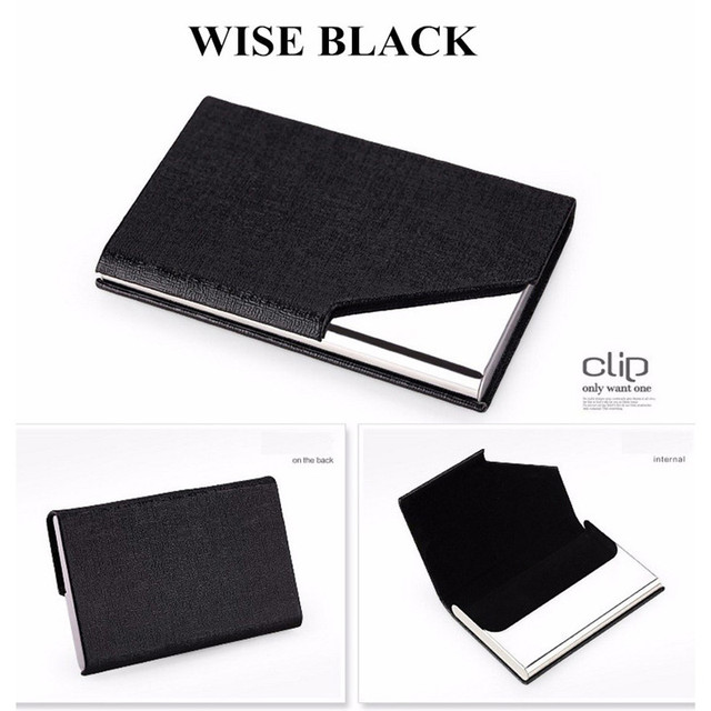 Rfid card holder business card wallet id credit card holder women rfid card holder business card wallet id credit card holder women men leather waterproof card protector reheart Choice Image