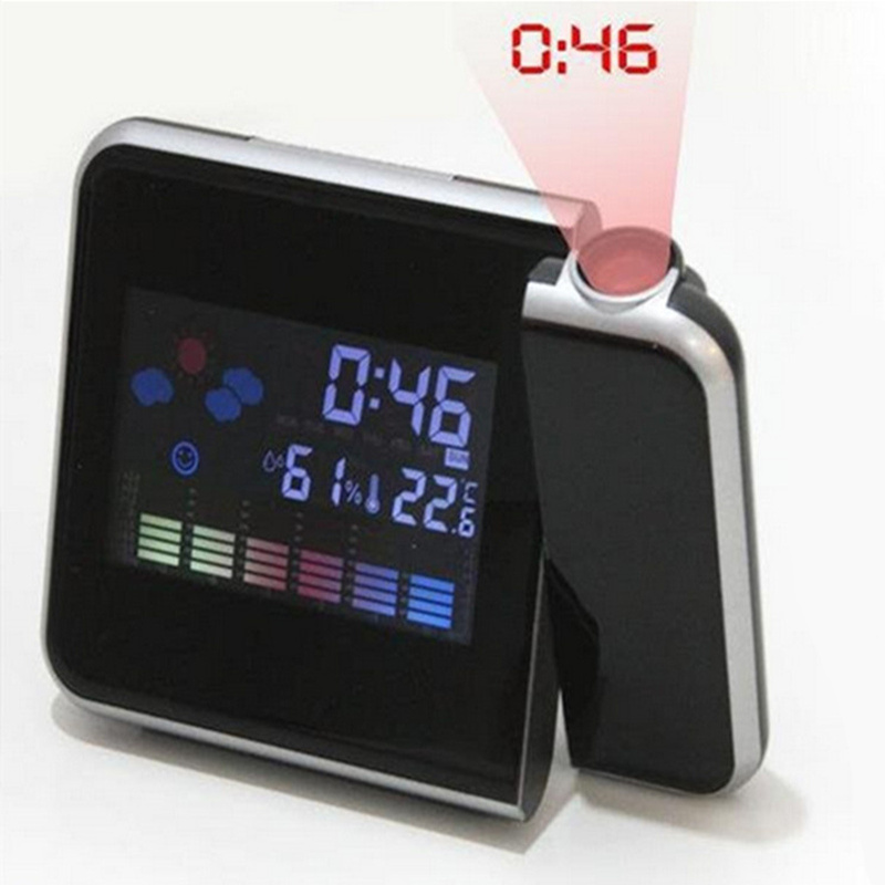 Creative Digital Projection Alarm Clock alarm Display LED Backlight Weather Station Temperature Thermometer Humidity Hygrometer
