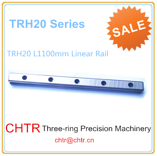 High Precision Low  Manufacturer Price 1pc TRH20 Length 1100mm Linear Guide Rail Linear Guideway for CNC Machiner high rigidity roller type wheel linear rail smooth motion belt drive guide guideway manufacturer