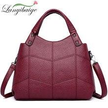 2019 Luxe Handtassen Vrouwen Tassen Designer Merk Sac A Main Vrouwelijke Lederen Top Handvat Schoudertas Bolsas Vintage Hand tas Dames