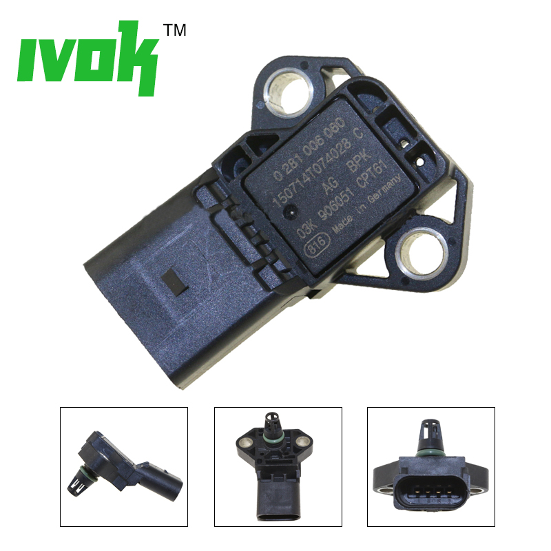 4 BAR Intake Manifold Boost Pressure MAP Sensor Drucksensor For VW Audi 03K906051 0281006059