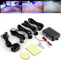 1Set Circular Parking Sensors Car Backup Reverse Radar Rearview Mirror LED Display Hot Worldwide#