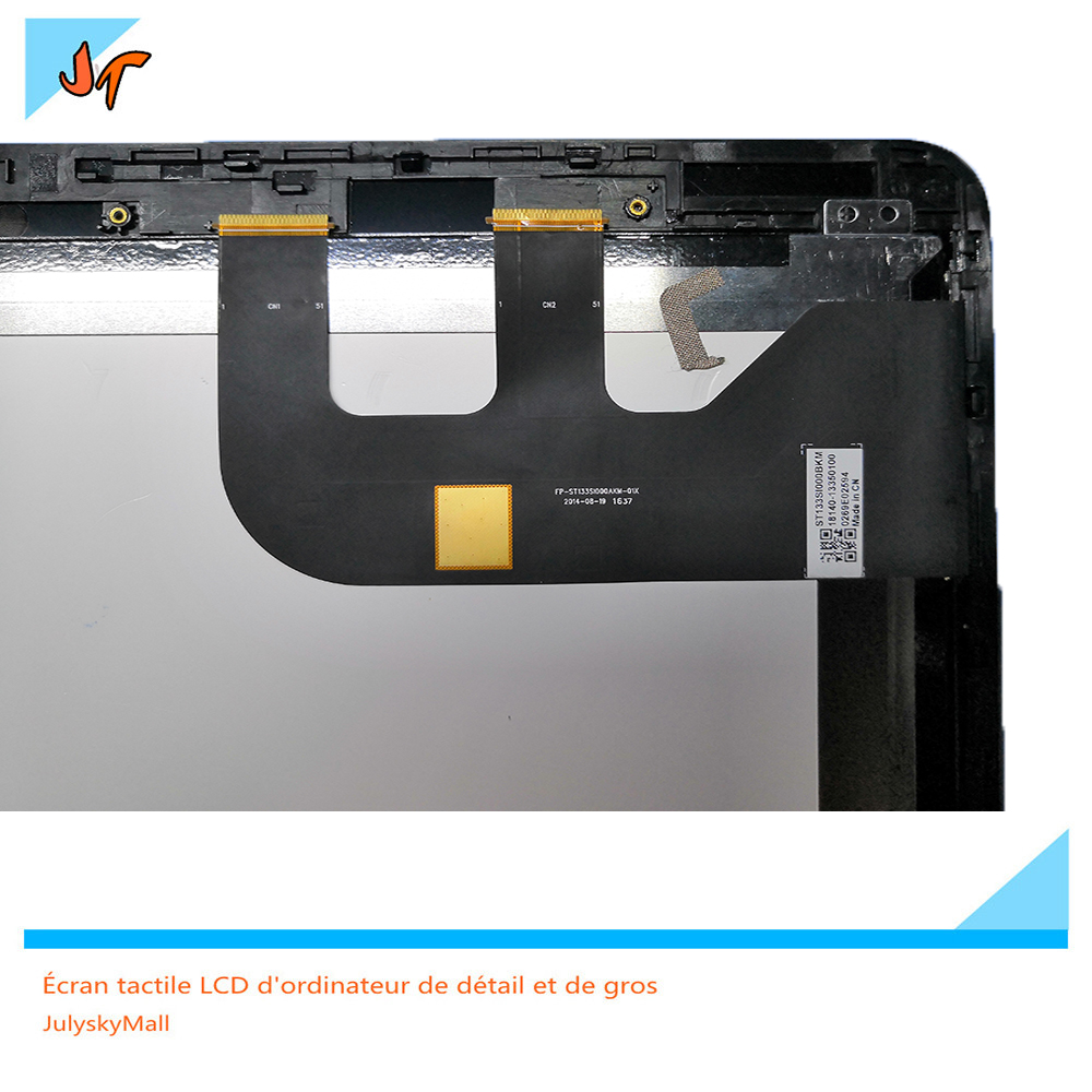 New 13.3-inch LCD + frame for ASUS Zenbook UX360C UX360CA HD with touch screen 1920X1080 display panel 13 3 inch lcd display screen for asus zenbook ux360ca ux360c lcd screen touch digitizer assembly b133han02 7 and only touch