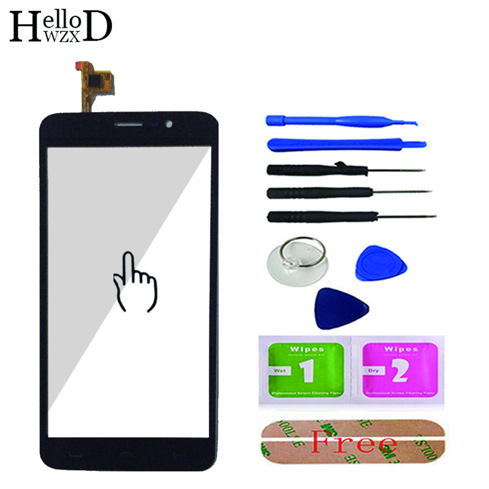 Mobile Touch Screen For <font><b>Homtom</b></font> HT27 <font><b>HT</b></font> <font><b>27</b></font> Touch Screen TouchScreen Front Glass Digitizer Panel Lens Sensor Tools Adhesive image