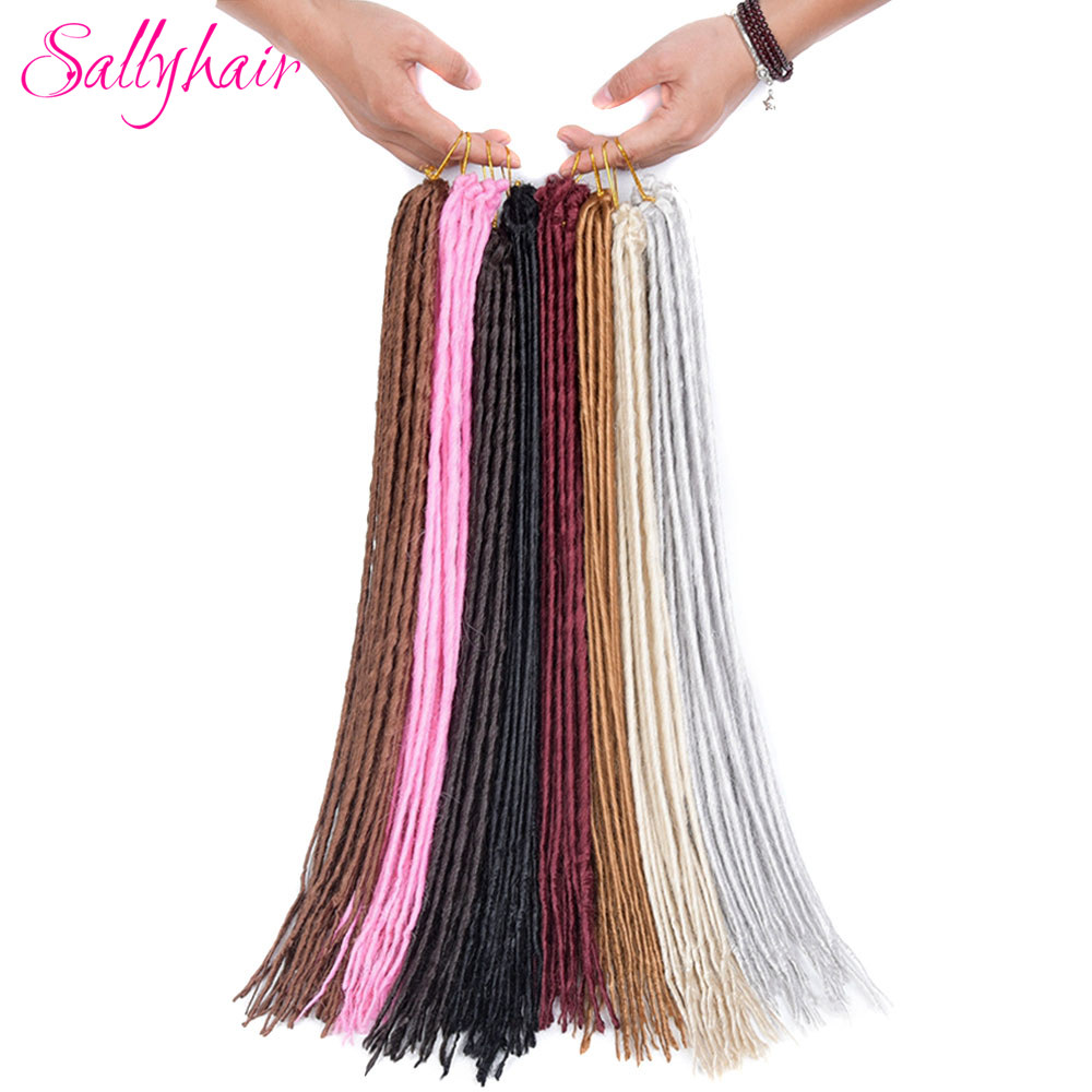 Sallyhair Dreadlocks 1 Pack 12strands 20inch Synthetic Braiding Hair Extensions Crochet  ...