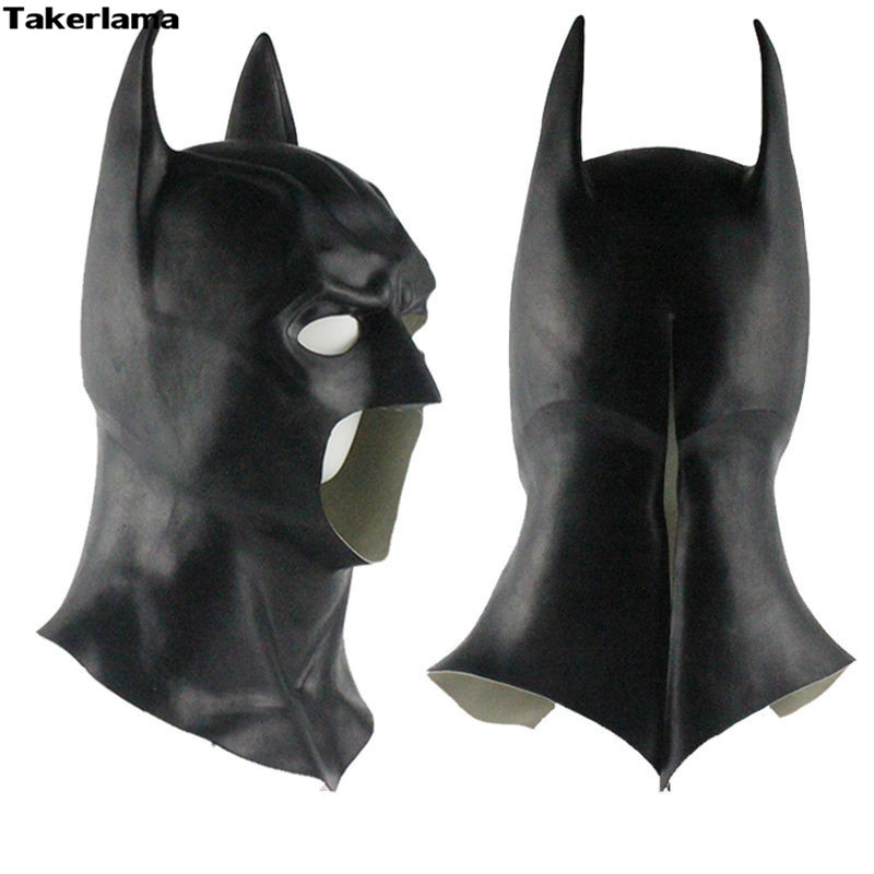 Takerlama Batman Masks Halloween Men's Rubber Adult Full Party Mask Cosplay Movie Props Dawn Of Justice Wayne Cosplay Mask