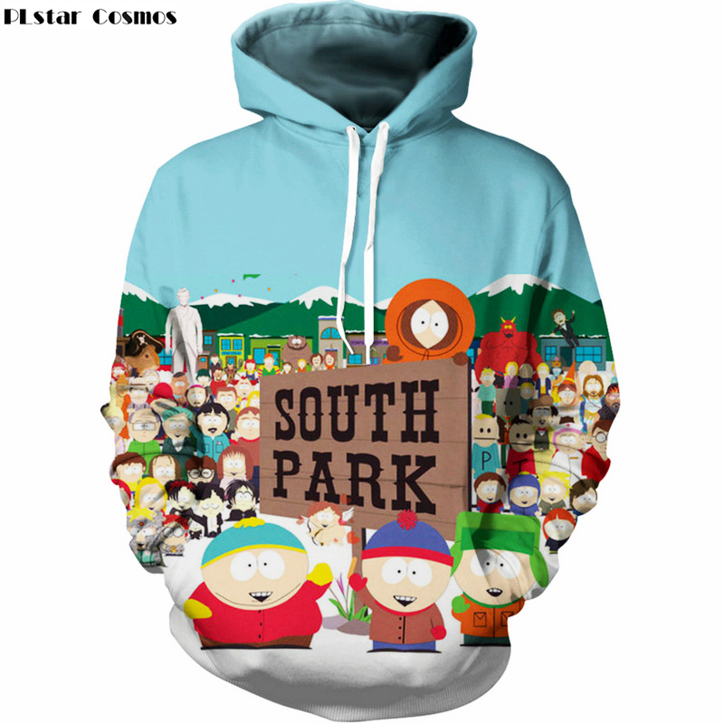 PLstar Cosmos Hoodies Sweatshirts Men Fashion 3D Print Anime South Park Hooded Sweats Tops Streetwear Unisex funny Pullover