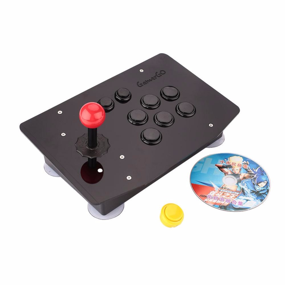 Gasky New Arrive 8 Button Arcade Joystick PC Controller Acrylic Computer Game Console Gamepad Gaming Gift Tools For Kid Children