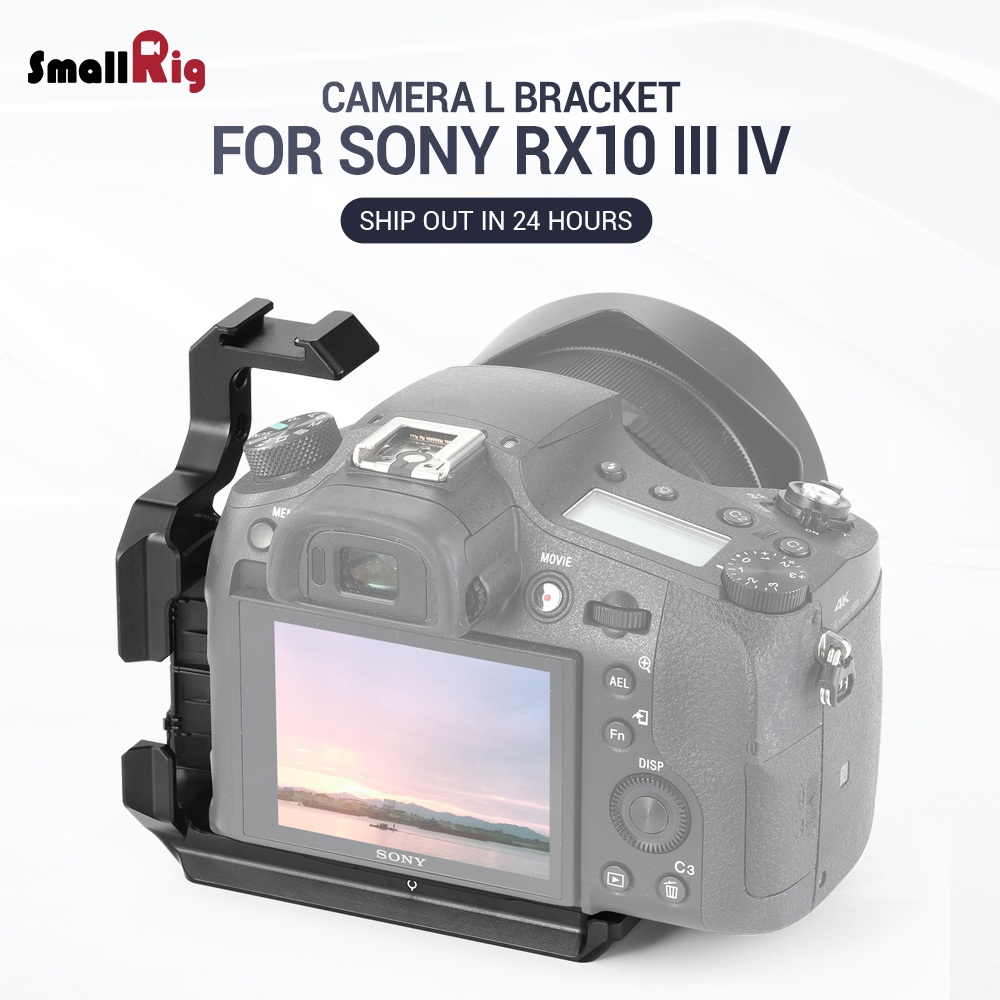 Small rig RX10 IV L plaque l-support pour Sony RX10 III IV plaque de fixation rapide pour trépied avec plaque de Style Arca 2230