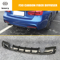 MP Style F30 Carbon Fiber Rear Bumper Lip Diffuser for BMW F30 318 320 328 335 340 with M Package 2012 2018