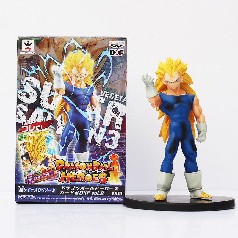 Dragon Ball Heroes Vegeta Action Figure Toy PVC Model Collective Doll With Box kung fu panda 3 a treasure hand office dolls large savings cans dragon dragon heroes model movie toys doll ornaments t57