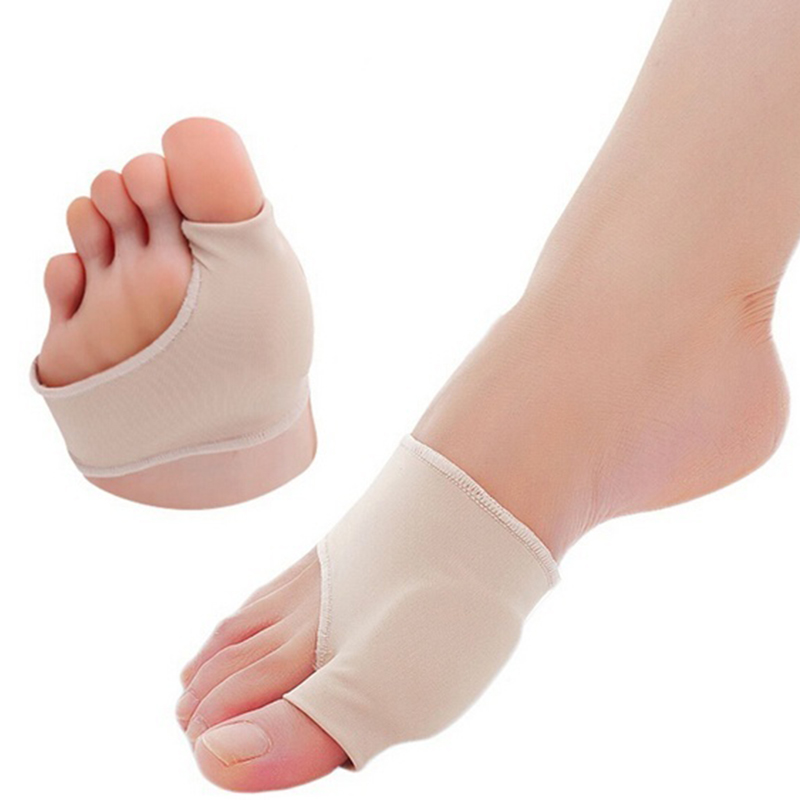 Szie S 1 Pair Great Toe Cyst Foot Care Tool Stretch Nylon Hallux Valgus Guard Cushion Bunion Toes Separator Thumb Protector HB8