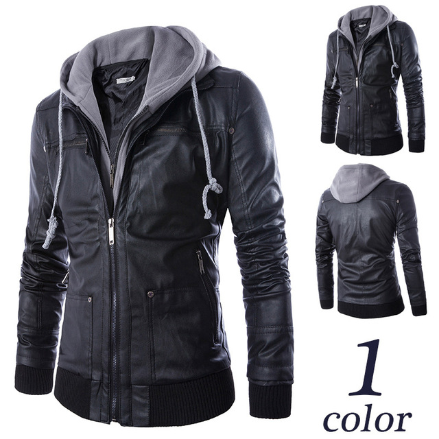 Aliexpress.com : Buy 2016 Autumn winter men's pu leather Hoodies ...