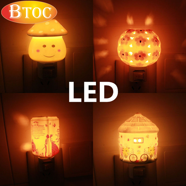 3 Clearance Led Projection Night Lights Kids Gift Baby Bedroom Lamp Nightlight For Eu Plug