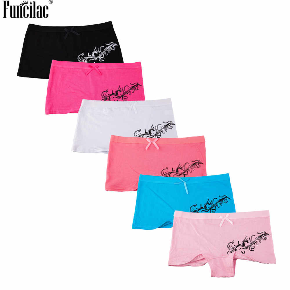 c8ae69c7aa9c Detail Feedback Questions about FUNCILAC Underwear Women Print Panties  Briefs Boyshorts Cotton Female Underpants Sexy Ladies Knickers Bow knot  Bower ...