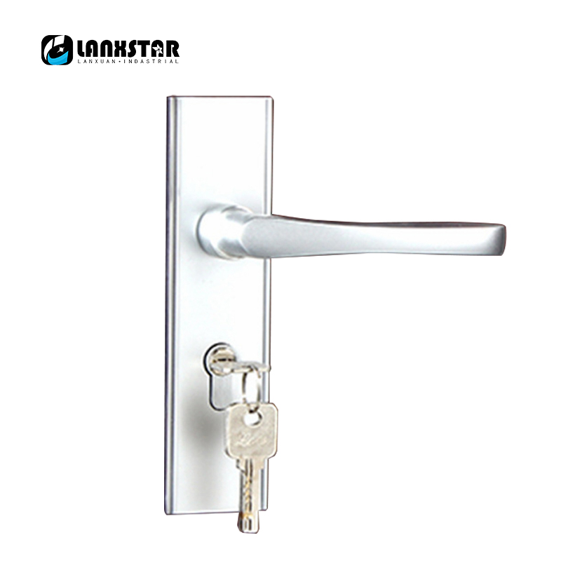 Wholesale Aluminum Handle Lock Door Locks Space Aluminium Alloy Indoor Mute Lockcore Room Safety-Lock factory interior door lock living room space aluminum mechanical lockset wholesale quality assuranced handle locks