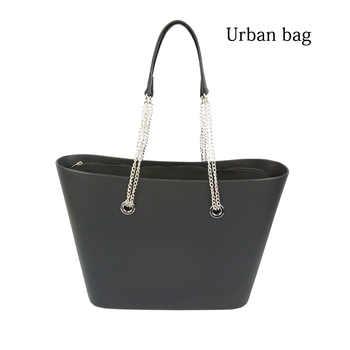 2019 New Big EVA Bag with Inner Pocket Colorful Long Silver Chain Handles Obag Style Waterproof Women bag Shoulder bag