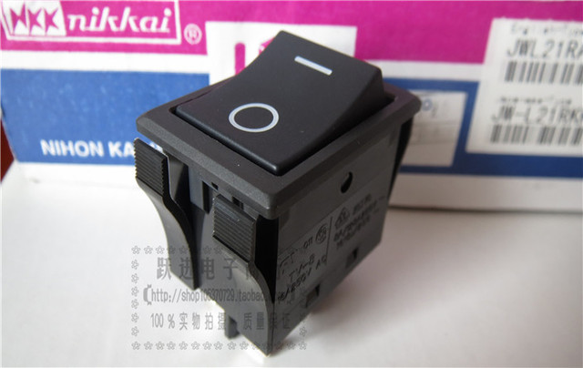 Original new 100% Japan import JW-L21 high current 16A250V 4pin 2 gear rocker switch power switch