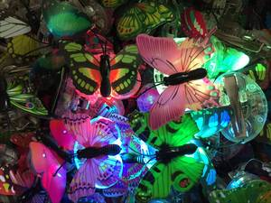 Image 2 - 女の子女性 led 点滅蝶のヘアピングローイングヘアクリップヘッドドレス誕生日パーティーホームクリスマスウエディングデコレーション