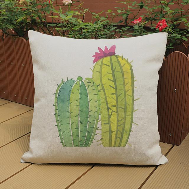 Cute Cactus Cushion Cover