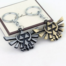 The Legend of Zelda Keychain Triforce Keyrings Games Anime Jewelry Key Chain Wallet(China)