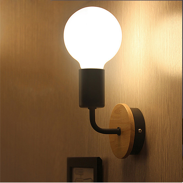 Moderno Iluminación lámpara de pared de madera dormitorio cocina ...