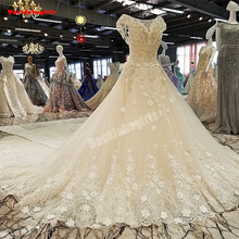 00302 Heavy Backless Ball Gown Bridal Gowns Wedding Dress