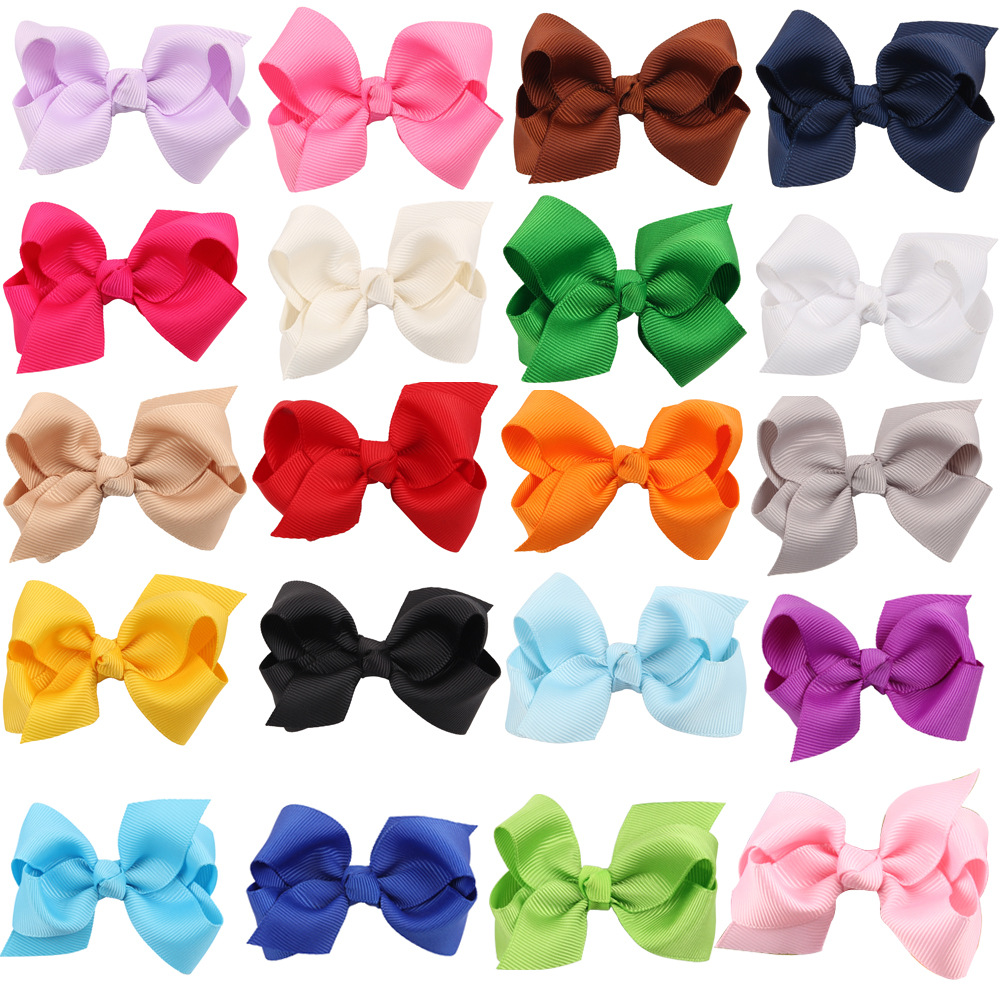 20Pcs/Lot 3inch Newborn Girls Ribbon Bows Hairpin Girl's Hairbows Boutique Hair Clip Headware Kids Hair Accessories halloween party zombie skull skeleton hand bone claw hairpin punk hair clip for women girl hair accessories headwear 1 pcs