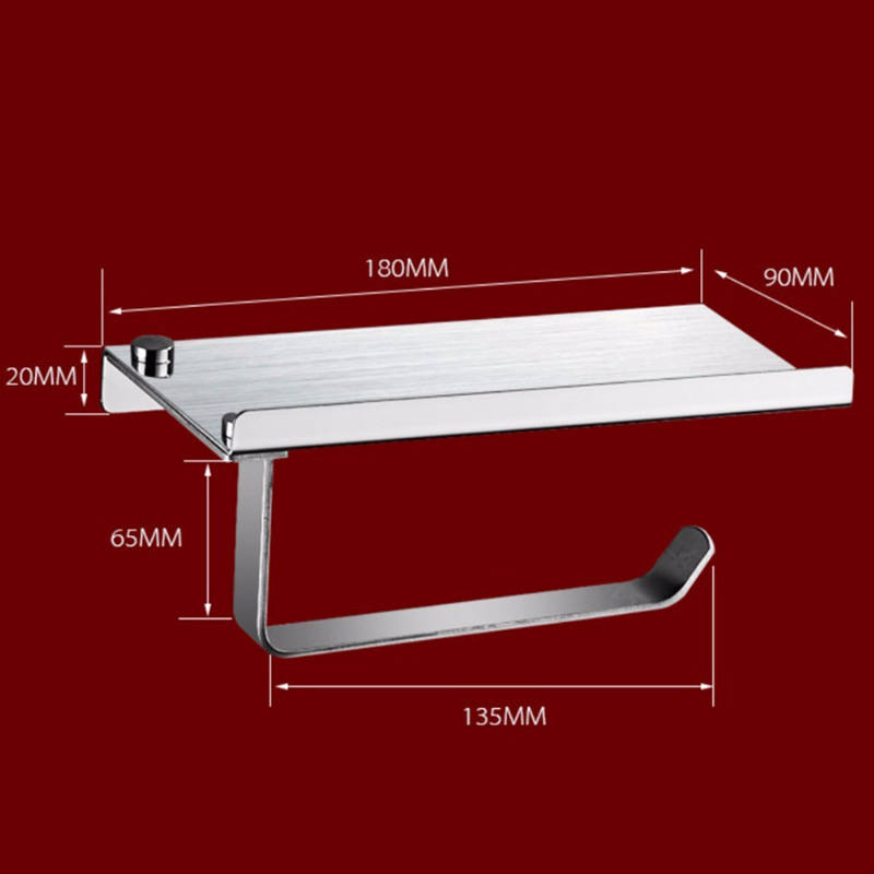 1 Piece High Quality 304 Stainless Steel Kitchen Wall Shelf Bathroom Shelf Tissue Roll Holder Rack
