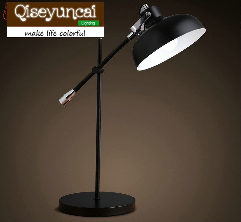 Qiseyuncai Free shipping The Nordic modern minimalist style iron Desk Lamps reading office  folding arm desk lamp